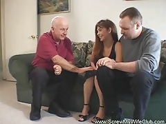 Husband approves of his wife fucking tubes