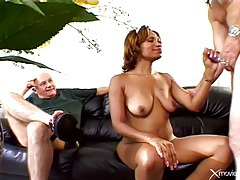 His sexy black wife cheats with a white guy tubes