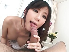 Japanese cocksucker in lingerie is beautiful tubes