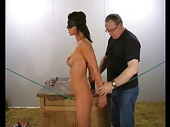 Fit girl with perky tits in a bondage video tubes