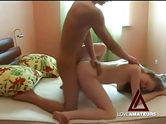 Teen couple tries out sexy positions and they fuck tubes