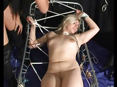 Watch her face as she takes pain in bdsm video tubes