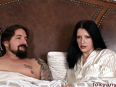 Foxy anya blows cock cum shot on hair tubes