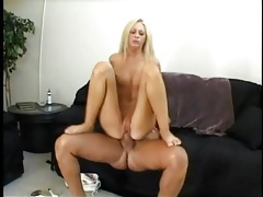 Long lean body on a hot blonde riding a boner tubes