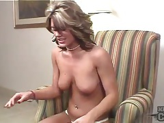 Young glamour babe with dildo in her cunt tubes