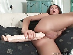 Anna nova takes huge dildo up the ass tubes