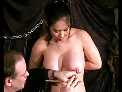 Big tits asian girl in a bdsm video tubes