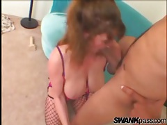 Milf boned in her asshole while in fishnets tubes