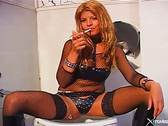 Dressed in lingerie for her hard anal sex scene tubes