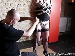 French shibari soumise sandy en bondage no sex tubes