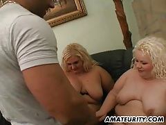 2 chubby amateur girls enjoy one cock at home tubes