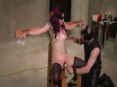 Babe electro play and bound blowjob tubes