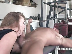 Slutty redhead leighlani is sucking cock tubes