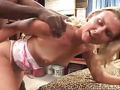 White pussy fucked from behind by bbc tubes