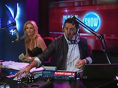 Radio show with topless girls playing games tubes