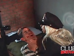 Police officers spank and abuse sub guy tubes