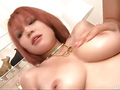 Curvy girl lubed with goo and fingered in cunt tubes