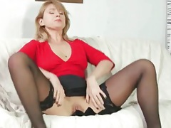 Masturbating milf sucks on rock hard young cock tubes
