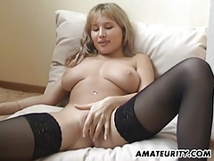Hot busty amateur girlfriend eaten with creampie tubes