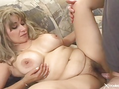 Fat cocksucker laid in her hairy pussy tubes