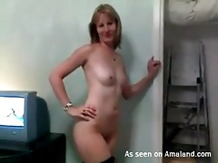 Doggystyle with slut in stockings takes it deep tubes