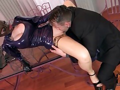 He licks latex girl and fucks her hardcore tubes