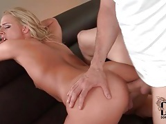 Skinny 69 slut fucked in her tight ass tubes