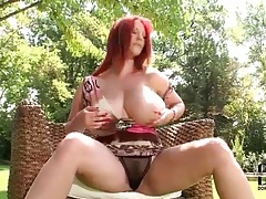 Redhead has her curvy body in sexy dress tubes