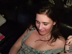 Fucked amateur brunette takes hot facial tubes