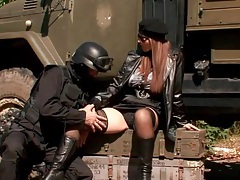 Soldier worships the pussy of the big tits girl tubes