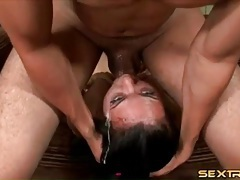 Wicked messy throat fucking of a slut tubes