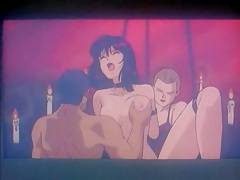 Hentai whore performs for an audience of guys tube