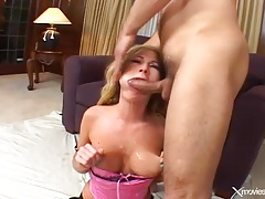 Slut in pink lingerie fucked in her tight ass tubes