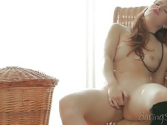 Angelic redhead solo cunt fingering video tubes