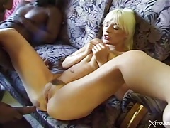 White lady anally laid by big black dicks tubes
