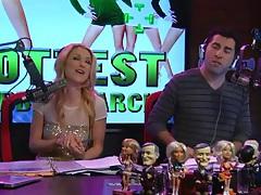 Fun girls model new lingerie on radio show tubes