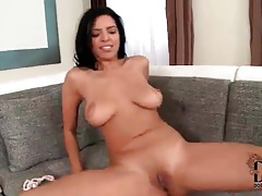 Look at her flawless shaved pussy in strip video tubes