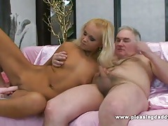 Blond slut pleases her mature lover tubes