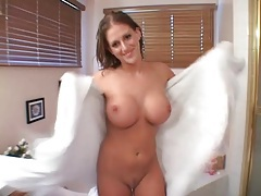 He fondles horny slut with fake tits for fun tubes