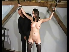 Girl in bondage has a genuinely perfect body tubes