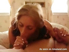 Sexy pigtails girl sucks two dicks in homemade clip tubes