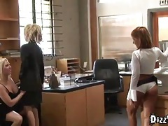 Lesbian orgy in the office tubes
