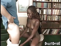 Skinny black girl interracial screw and facial tubes