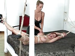 Abuse of big tits of a bound girl tubes
