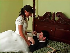 Two angry brides in dresses have a catfight tubes