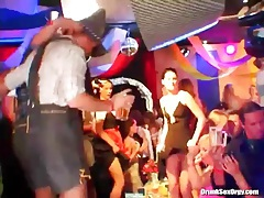 Sluts in sexy dresses dance at costume party tubes
