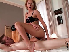 Beautiful petite girl rides dick with tight cunt tubes