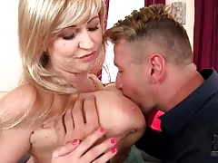 Groping her big tits turns the guy on tubes