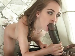 Riley reid sucks huge black cock in sneakers tube