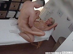 Beautiful blonde gets oil massage & fuck as bonus tubes